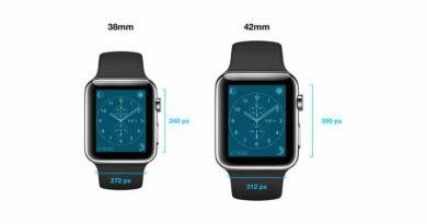 Часы Apple Watch работают на iOS и имеют разное разрешение
