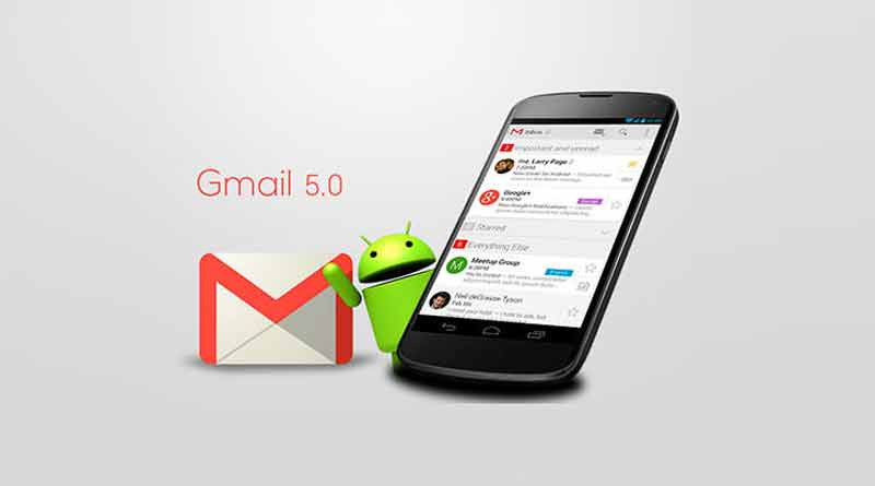 Почтовый клиент Gmail 5.0 обновился в духе Material Design