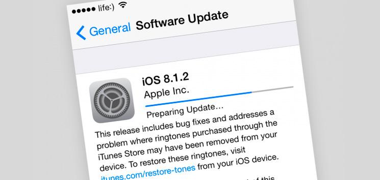 Обновление iOS 8.1.2: решена проблема с рингтонами