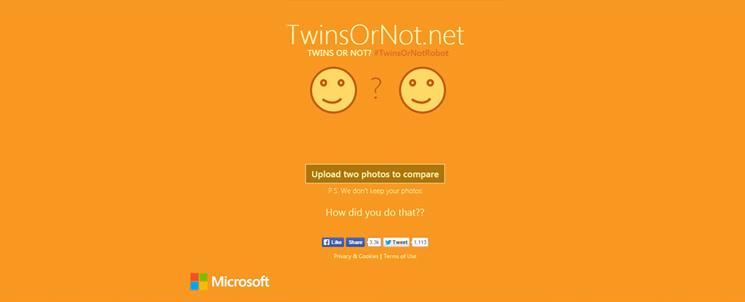 TwinsOrNot.net - определите сходство по фото онлайн с Microsoft