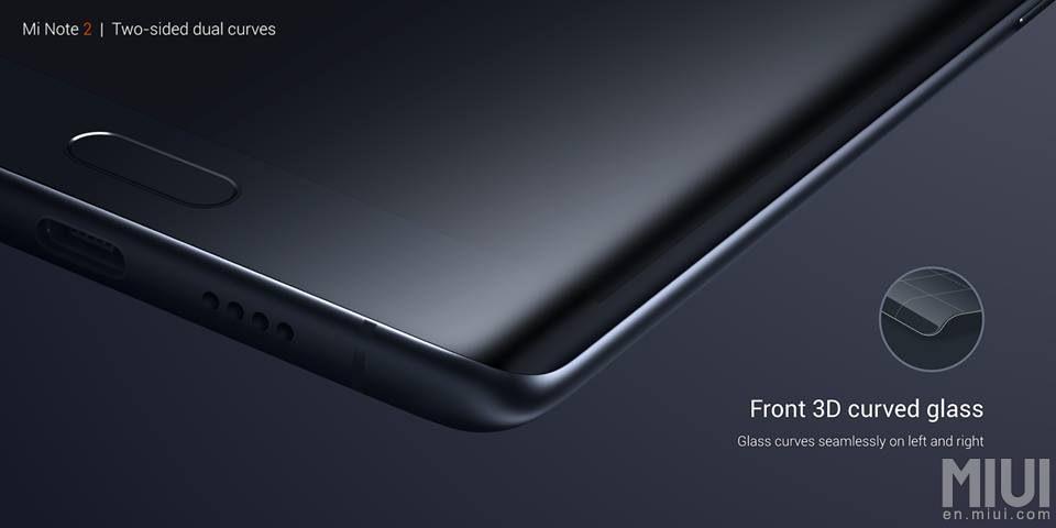 Xiaomi Mi Note 2. Передняя панель с загнутыми краями