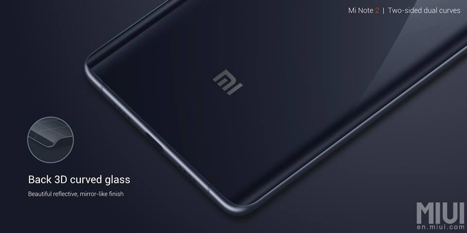Xiaomi Mi Note 2. Задняя панель с загнутыми краями