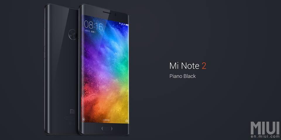 Флагман Xiaomi Mi Note 2 цвета Piano Black