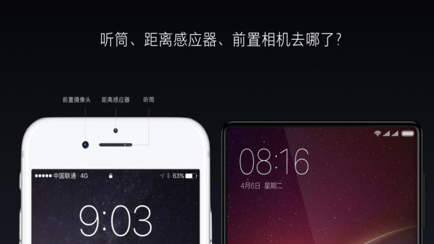 Xiaomi MIX. Нет лишних датчиков и прорези динамика