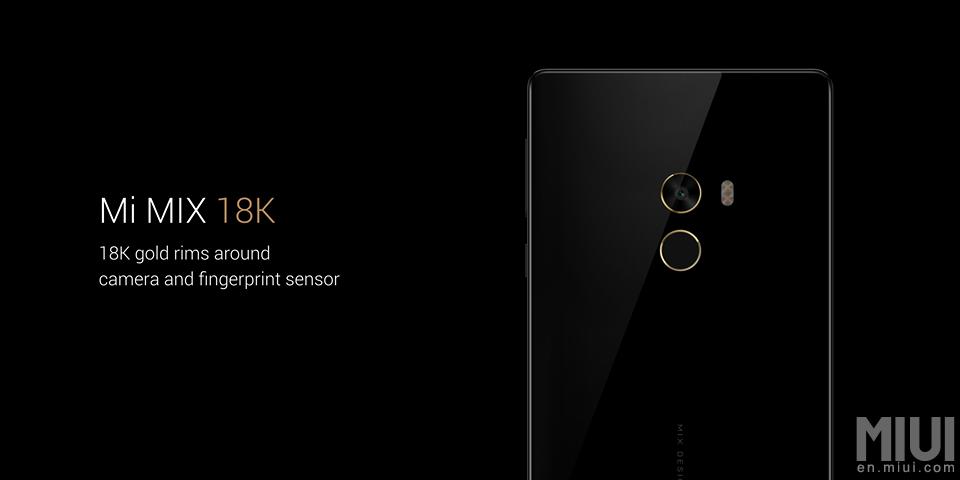 Xiaomi MIX 16K. Обод камеры и сканера отпечатков из золота