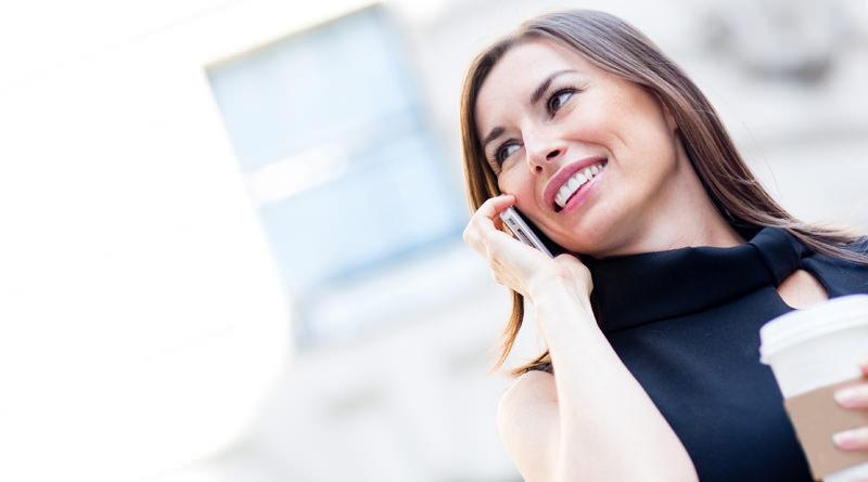 Мобильный телефон в использовании