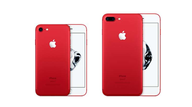 Вышел красный Apple iPhone 7 и 7 Plus