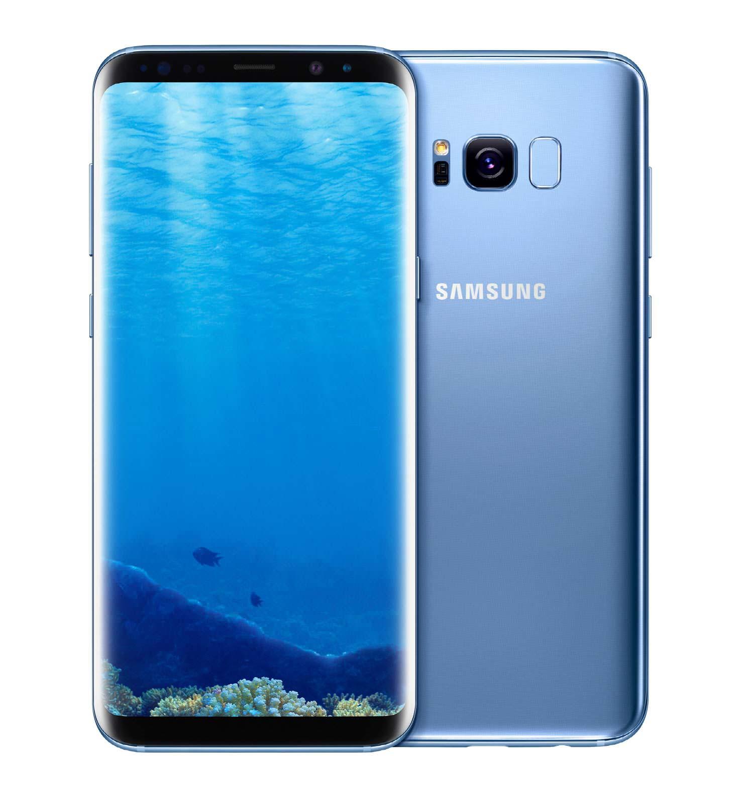 Samsung Galaxy S8 и S8+ голубой