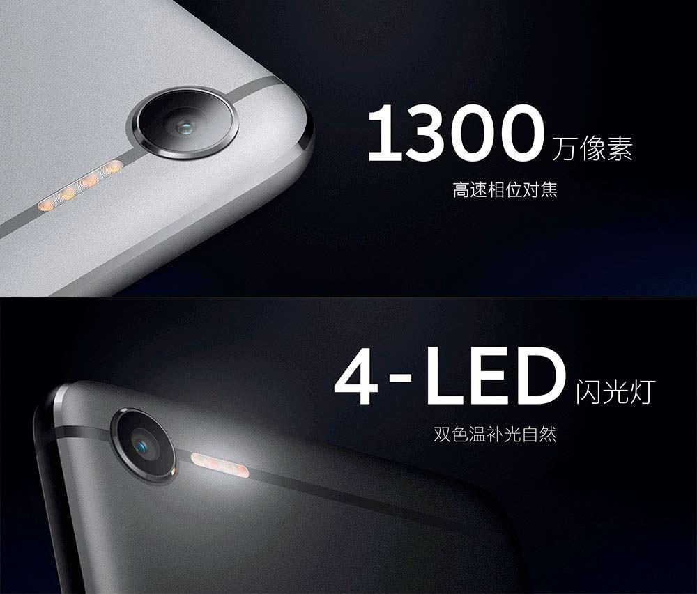 Камера на 13-Мп и 4-элементная LED-вспышка