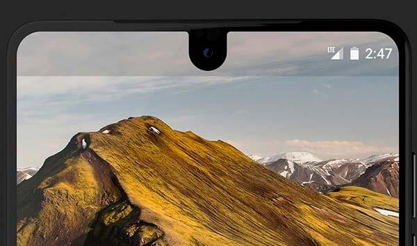 Фронтальная камера Essential Phone в дисплее