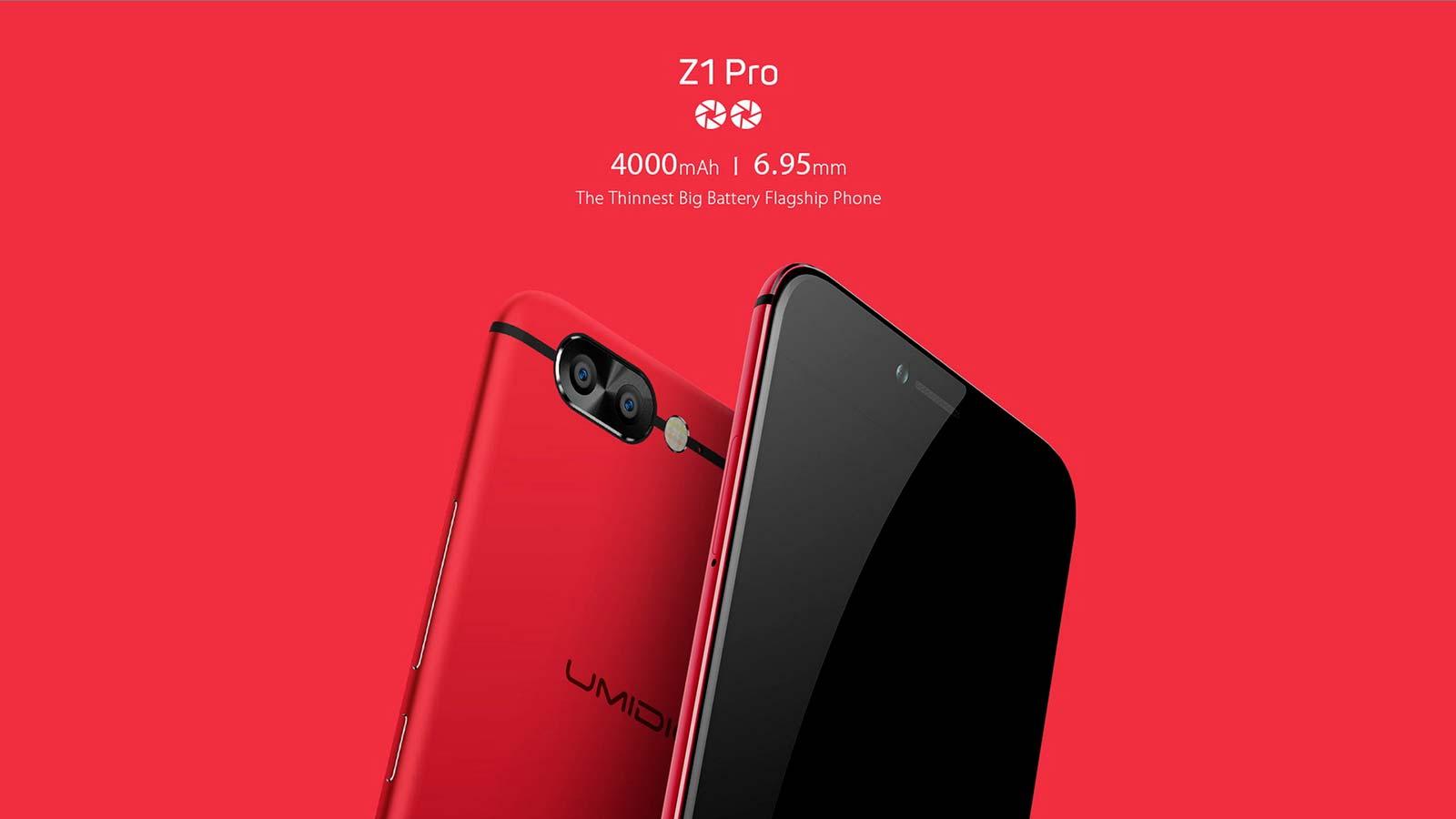 Флагманские смартфоны UMIDIGI Z1 и Z1 Pro: цена $229 и $299
