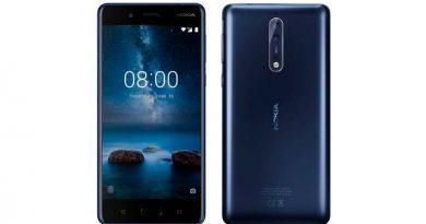 Флагманский смартфон Nokia 8 примкнул к моделям 3, 5 и 6