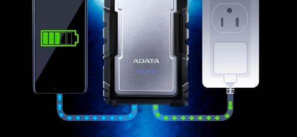 Внешний аккумулятор ADATA D16750: зарядка 2 устройств