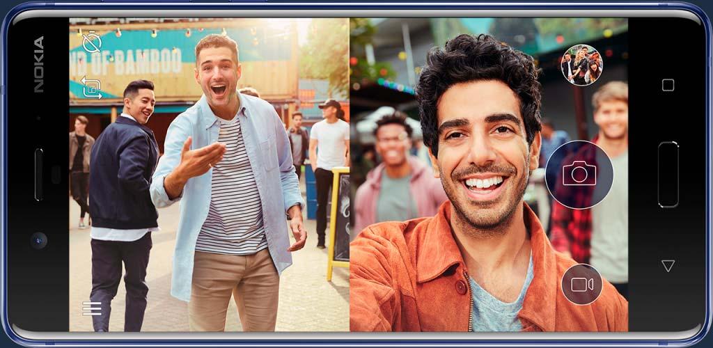 Nokia 8: одновременное фото на переднюю и заднюю камеры