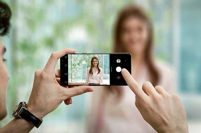 Samsung Galaxy Note8: съемка бокэ и просмотр в превью