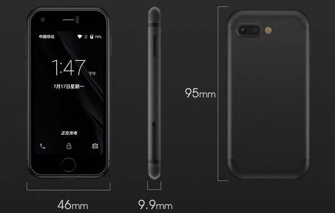Габариты Soyes 7s: в три раза меньше iPhone 7 Plus