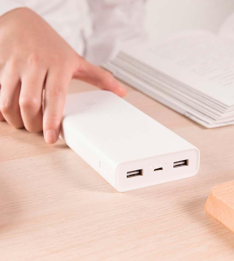 Мощный пауэр-банк Xiaomi Mi Power 2C на 20 000 мАч