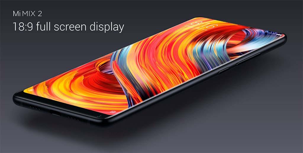 Безрамочный Xiaomi Mi MIX 2: ультратонкий алюминиевый корпус