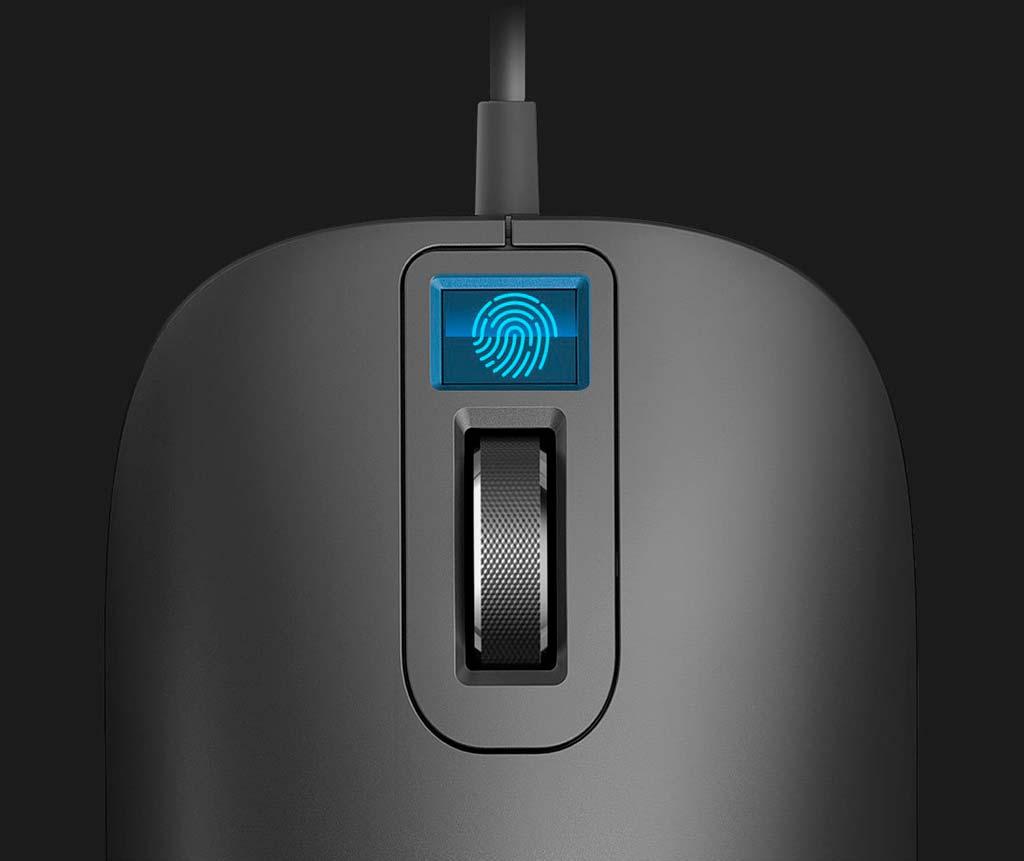 Компьютерная мышь со сканером отпечатков пальцев от Xiaomi