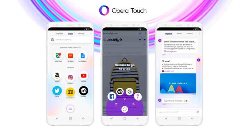 Opera сделала мобильный браузер Touch для работы одной рукой