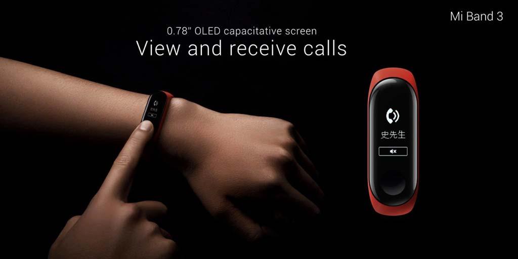 Браслет Xiaomi Mi Band 3 с сенсорным экраном OLED 0,78-дюймов
