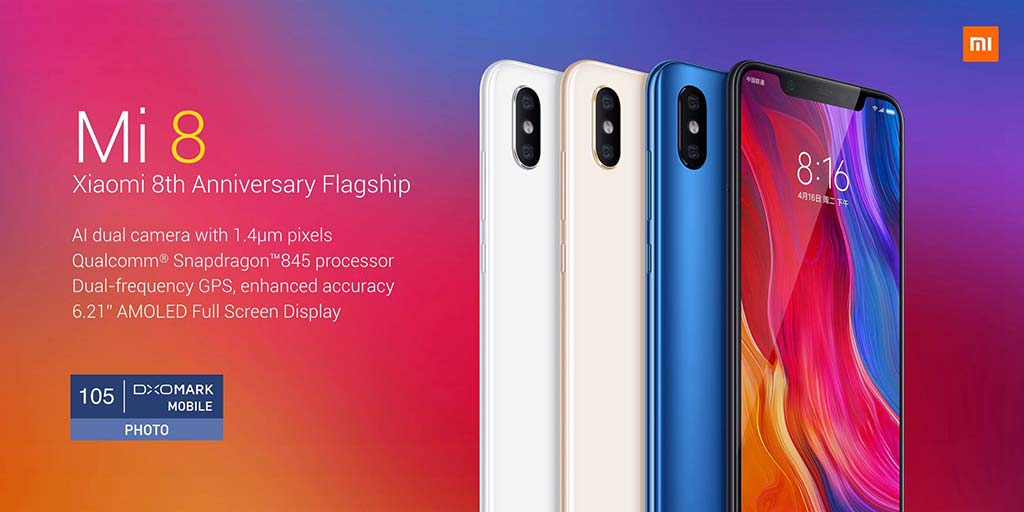 Флагманский смартфон Xiaomi Mi 8. Цена от $421