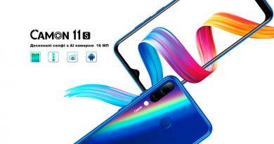 TECNO Mobile: смартфоны Camon 11 S и Spark 3 Pro теперь и в Украине