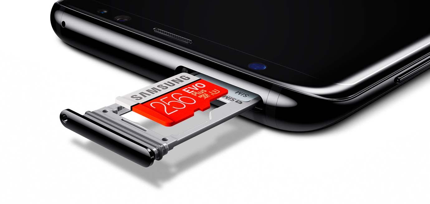 Лоток для microSD карты в Samsung Galaxy S8 / S8+