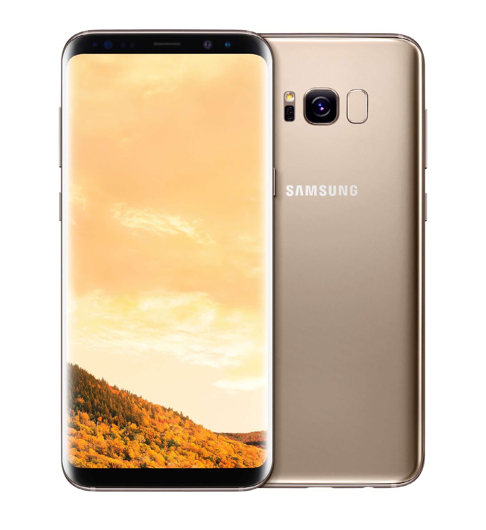 Samsung Galaxy S8 и S8+ желтый топаз