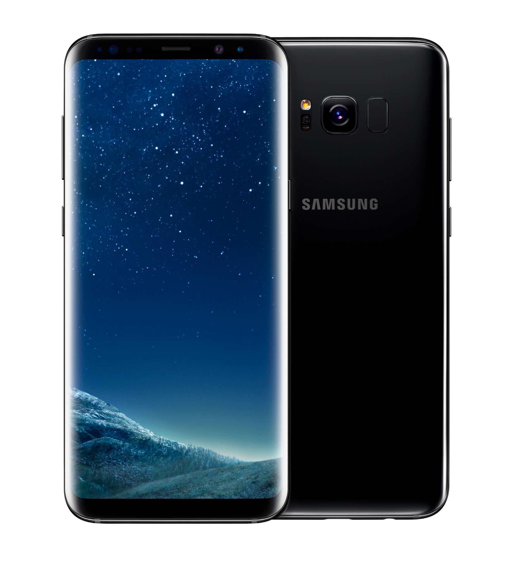 Samsung Galaxy S8 и S8+ черный бриллиант