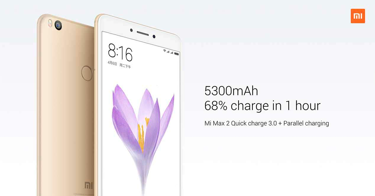 Xiaomi Mi Max 2: батарея на 5 300 мАч