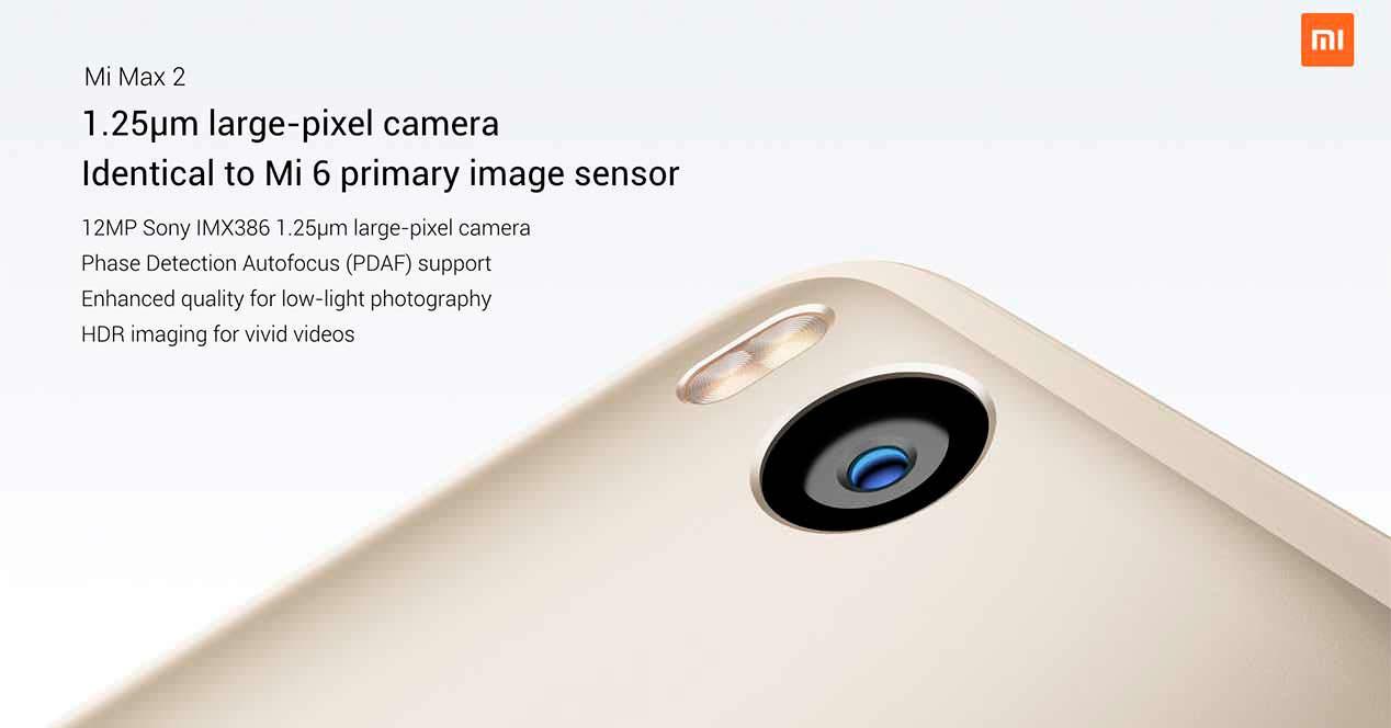 Xiaomi Mi Max 2: камера Sony IMX386 на 12-Мп