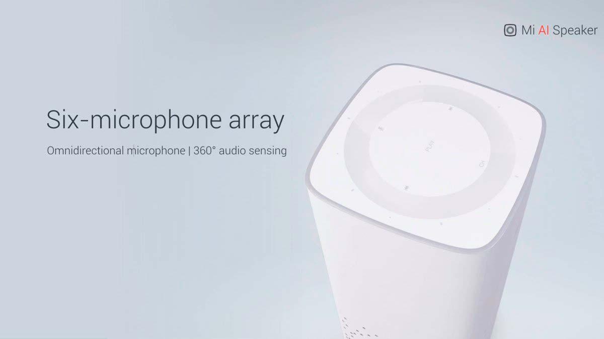 Умная колонка Xiaomi Mi AI Speaker: 6 микрофонов и 3 динамика