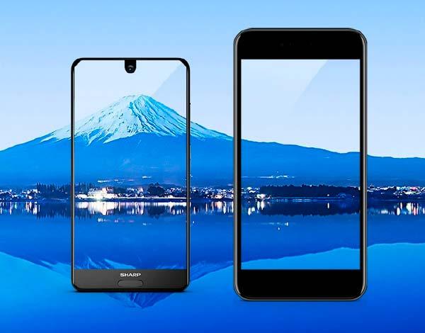 Безрамочный смартфон 2017 года Sharp AQUOS S2 с экраном FFD
