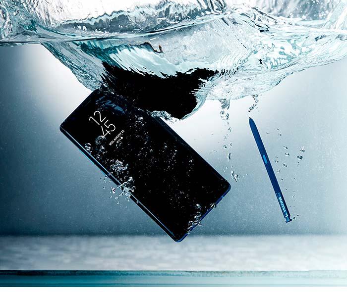 Samsung Galaxy Note8: защита от пыли и влаги по IP68