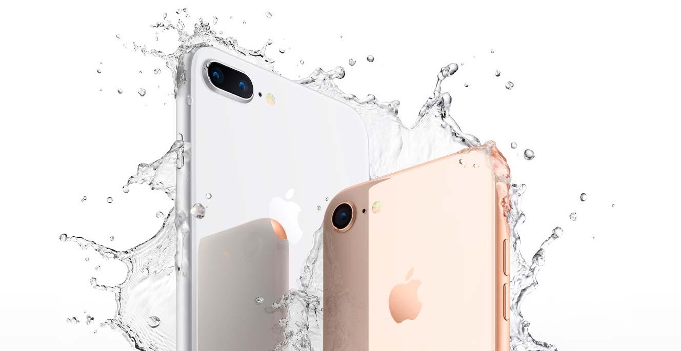 Новые Apple iPhone 8 и 8 Plus с защитой от влаги и пыли