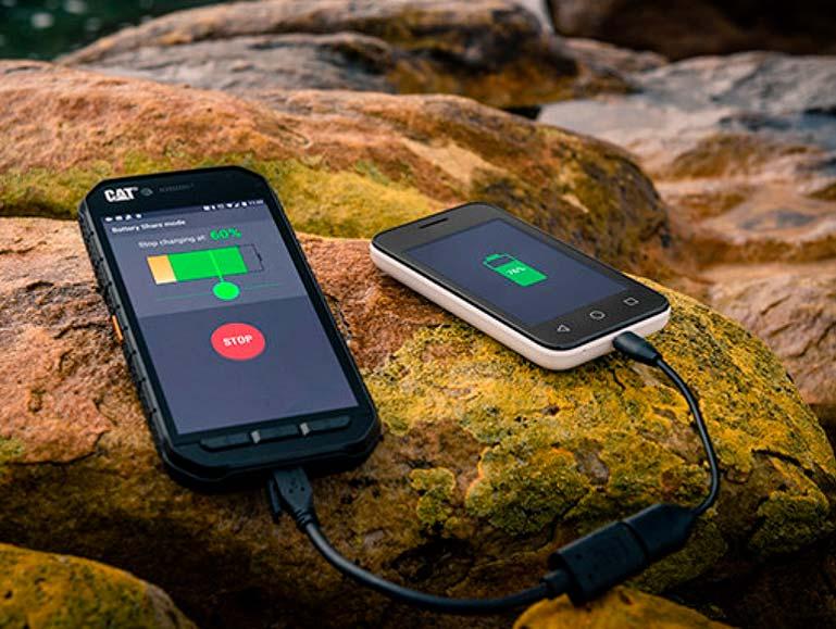 Защищенный смартфон CAT S41 в режиме внешнего аккумулятора
