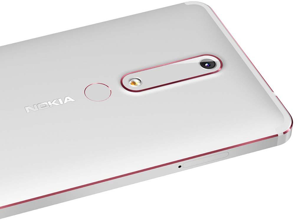 Nokia 6 2018 года со сканером отпечатков пальцев сзади