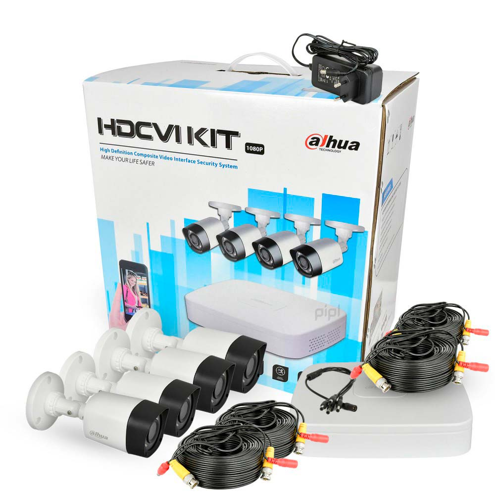 Комплект видеонаблюдения DAHUA HDCVI KIT-CV4FHD-4B