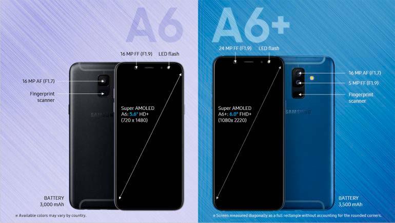 Новые Samsung Galaxy A6 и Galaxy A6+ 2018 года