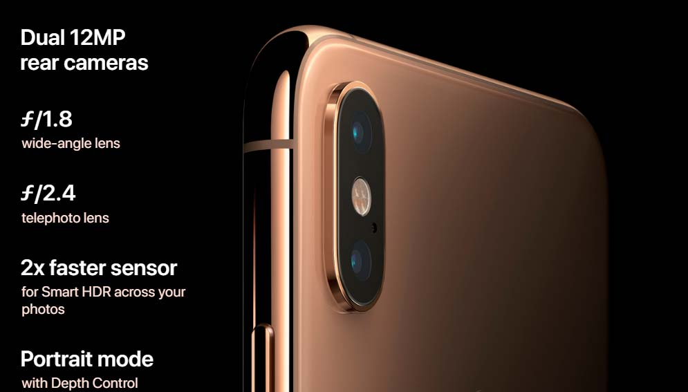 Характеристики основной камеры Apple iPhone Xs и Xs Max