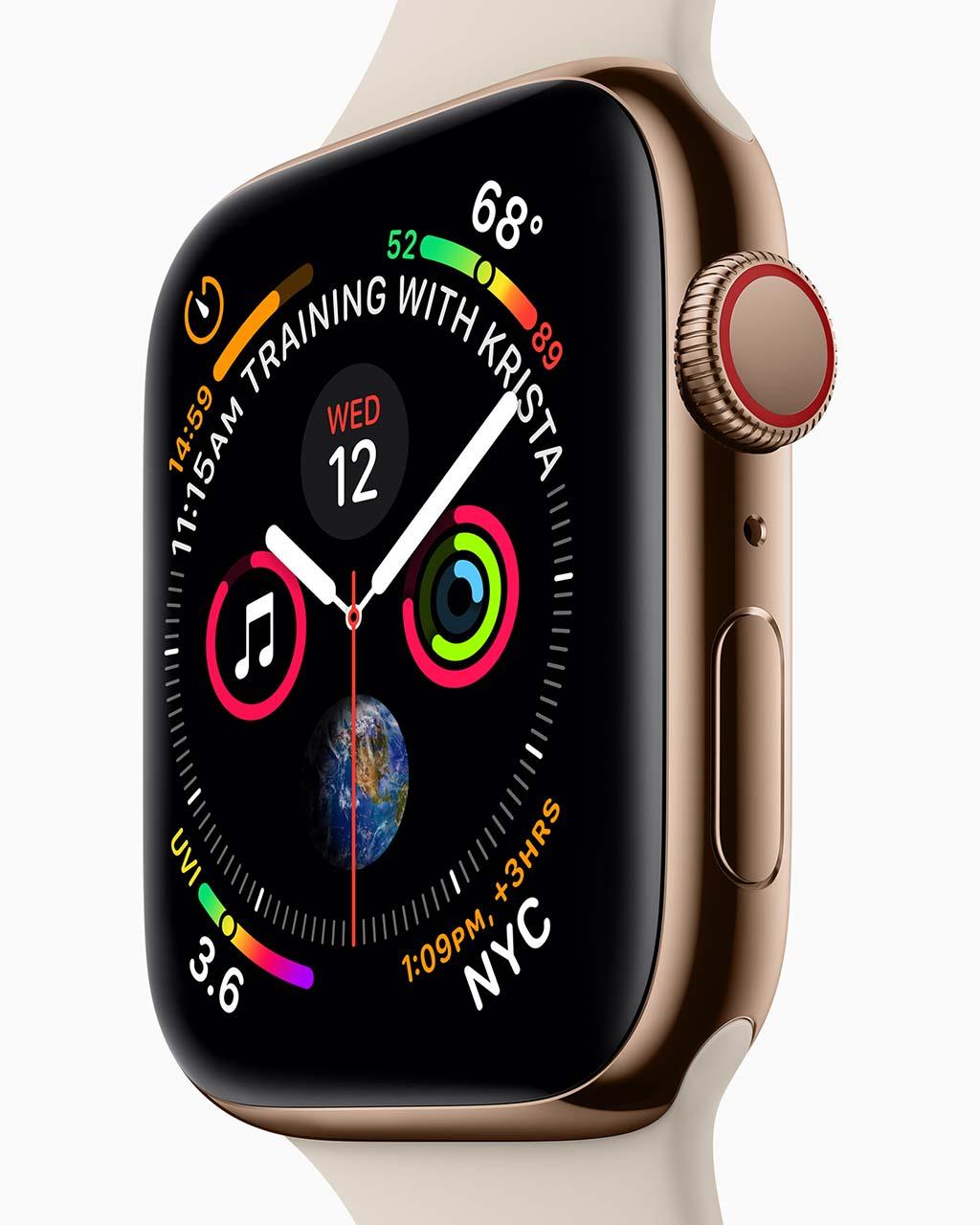 Новые смарт-часы Apple Watch Series 4