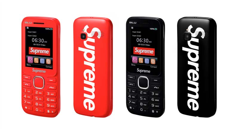 Модный бренд Supreme выпустил кнопочный Burner Phone